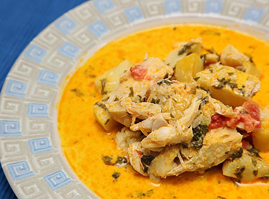 Bacalhau com Batatas e Leite de Coco