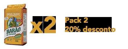 Pack 2 Chimarrão 20% desconto