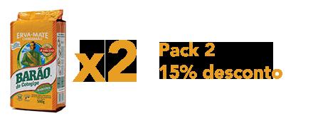 Pack 2 Chimarrão 15% desconto